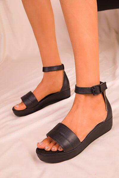 Siyah Kadın Sandalet 15937