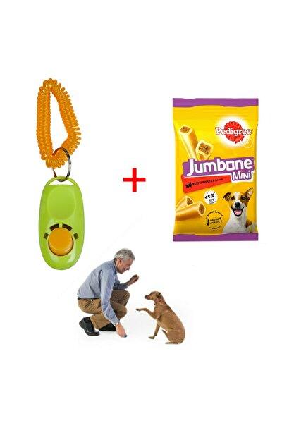 Köpek Eğitim Seti - Köpek Eğitim Clickeri + Pedigree Jumbone Mini Köpek Ödülü 160 Gr