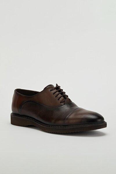 Erkek Kahverengi Klasik Hakiki Deri Ayakkabı Mgtorino01