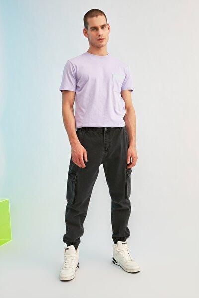 Antrasit Erkek Loose Fit Kargo Jogger Jeans TMNSS21JE0118