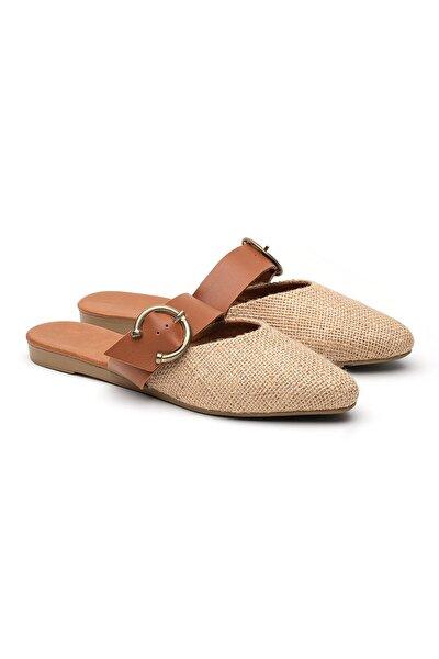 Hasır Tokalı Sandalet Kadın Terlik Ts1043