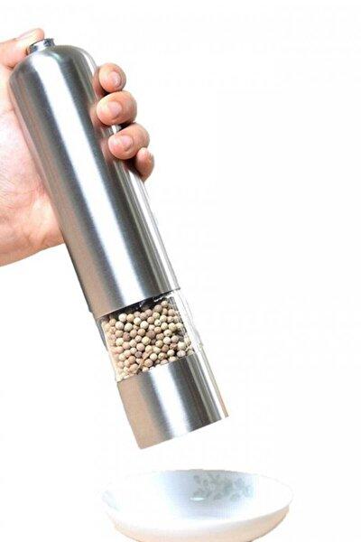 Otomatik Tuz Karabiber Pilli Işıklı Öğütücü Baharat Değirmeni
