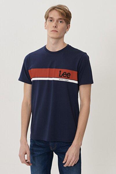 Erkek Lacivert Regular Fit Bisiklet Yaka T-shirt