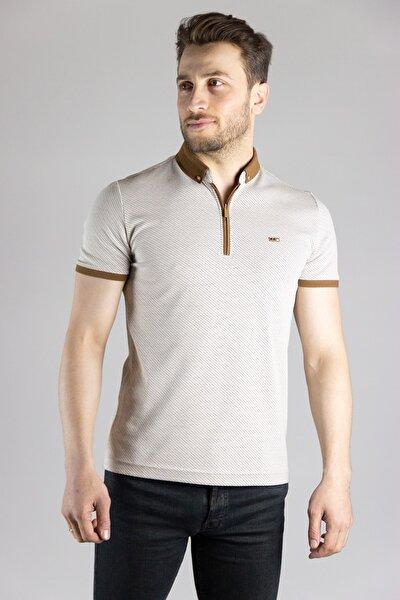 Erkek Bej Polo Yaka T-shirt