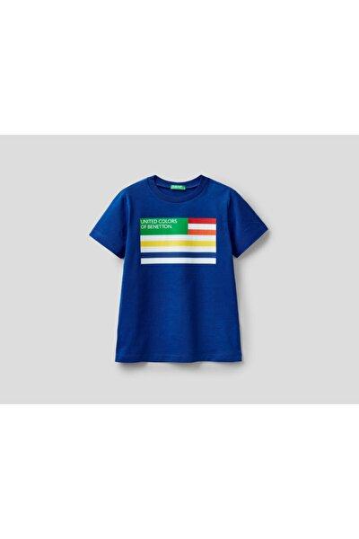 Erkek Çocuk Lacivert Yazılı Tshirt