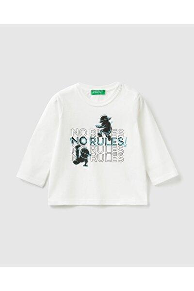 012 No Rules Yazı Baskılı Tshirt