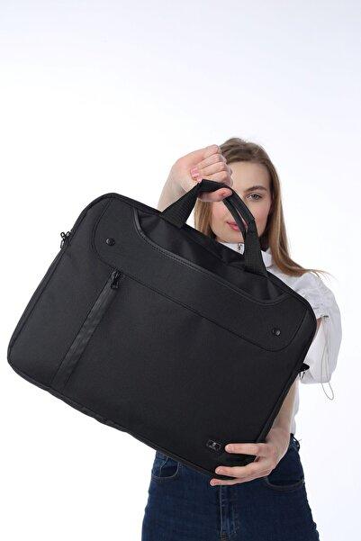 """15.6"""" Siyah Unisex Evrak Notebook Laptop Çantası"""