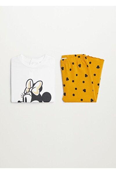 Minnie Mouse Baskılı Pijama Takımı