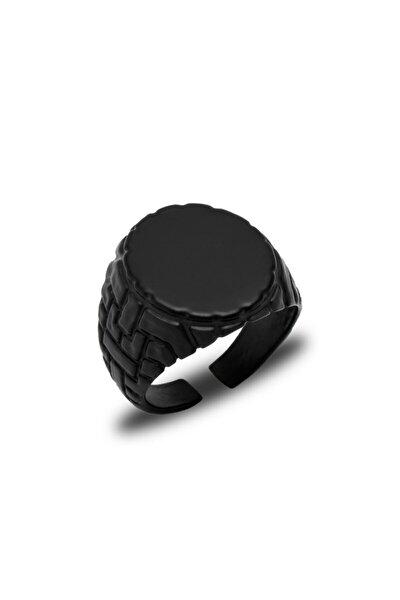 Mat Siyah Erkek Yüzük - Yüz0045