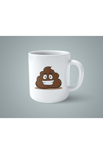 Poop Tasarımlı Kupa Bardak