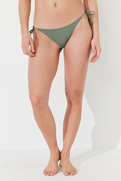 Kadın Yeşil Army Basic Bikini Altı