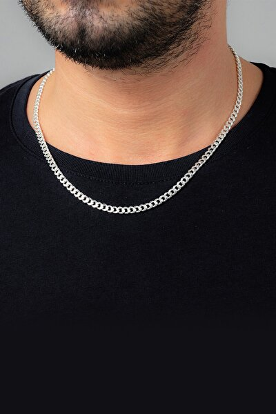 Gurmet Gümüş Erkek Zincir Kolye Vek-3019