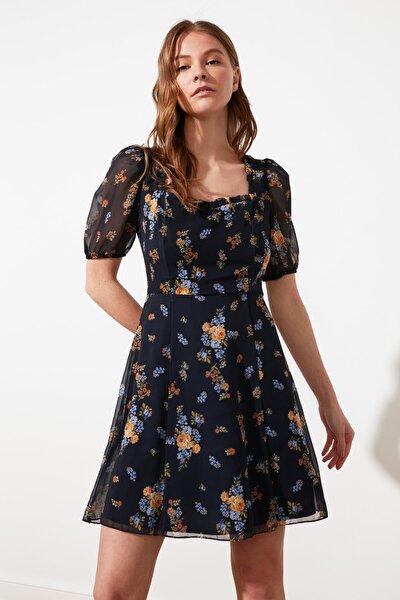 Lacivert Kare Yaka Elbise TWOSS21EL2139