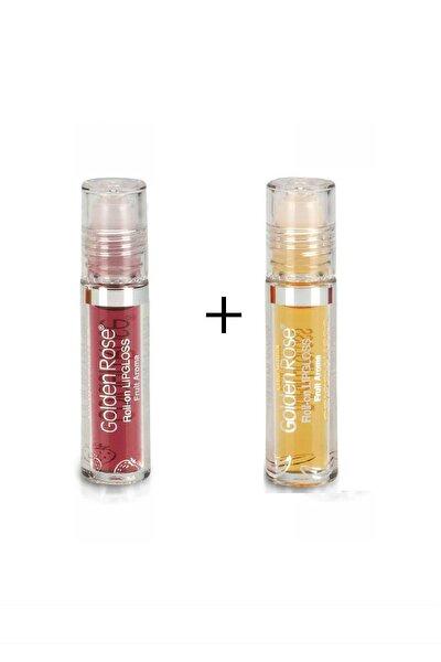 Meyveli Dudak Parlatıcısı Roll On Lipgloss Çilek ve Muz 2 Adet 71717171213