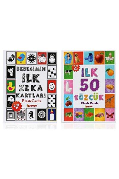 Flash Cards Ilk 50 Sözcük + Bebeğimin Ilk Zeka Kartları /