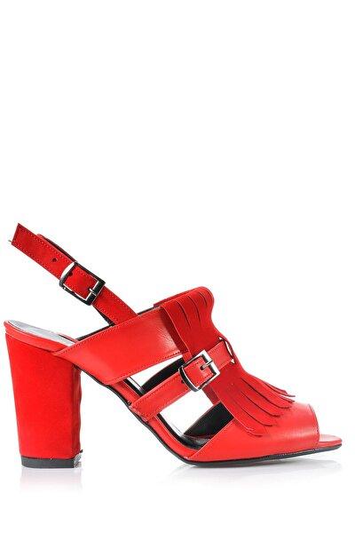 Kırmızı Kadın Topuklu Ayakkabı 144212