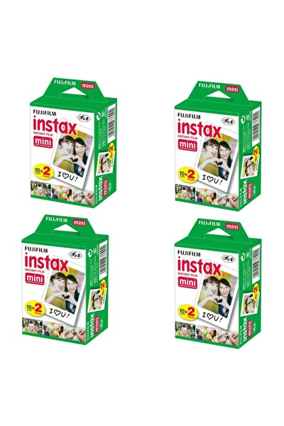 Instax Mini 20'li Film 4'lü Set 80 Poz