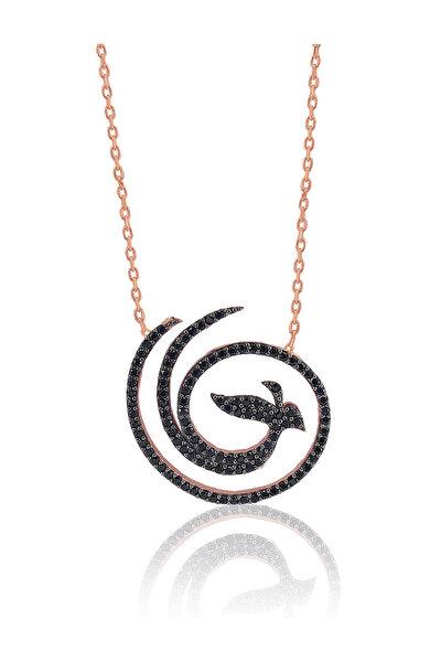 Kadın 925 Ayar Gümüş Anka Kuşu Kolye SGTL3207