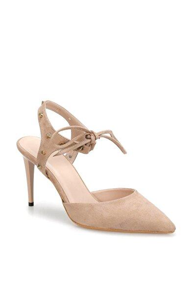 Ds19069 Bej Kadın Topuklu Ayakkabı 100382316