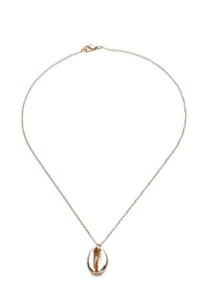 Kadın Altın Sarısı Deniz Kabuğu Kolye UK9270