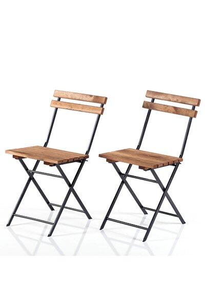 Katlanır Bahçe Sandalye Seti Ahşap Sandalye 2202