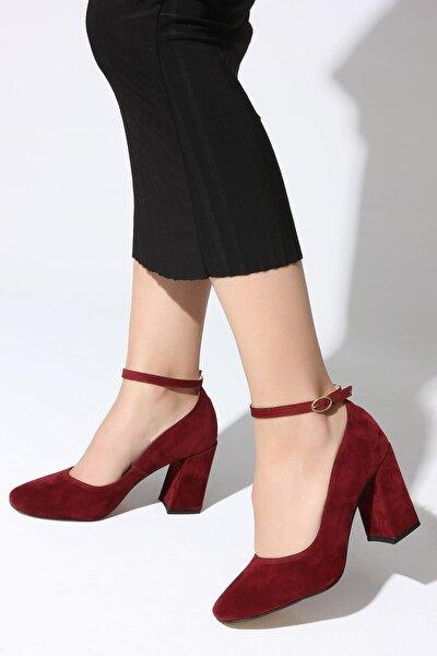 Bordo Kadın Topuklu Ayakkabı 11112014189-2-02