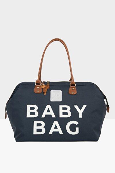 Lacivert Baby Bag Baskılı Bebek Bakım Çantası