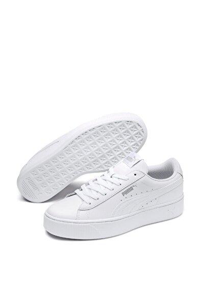 Puma Vikky Stacked L Beyaz Beyaz Kadın Sneaker Ayakkabı 100415386