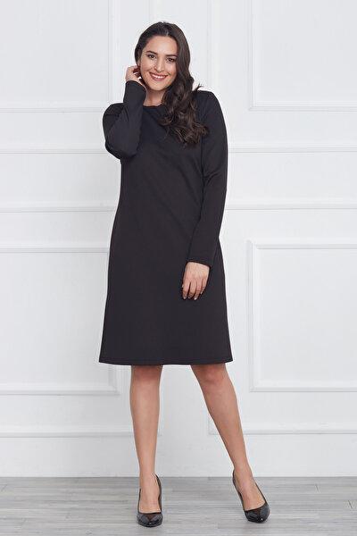Kadın Siyah Klasik Kesim Elbise 17LB9061