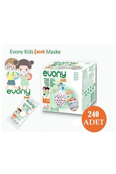 Elastik Kulaklı Çocuk Maske 10'lu Paket 240 Adet