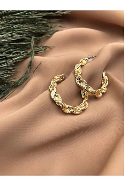 Vintage Altın Kaplama Küpe