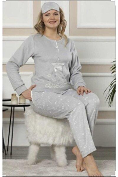 Kadın Gri Polar Pijama Takımı