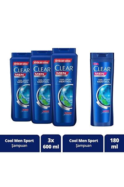 Erkek Şampuan 600 ml X3 + 180 ml