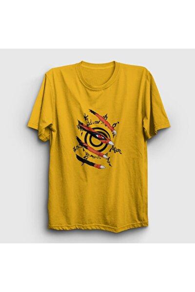 Unisex Sarı Kyuubi Anime Naruto T-shirt 133710tt