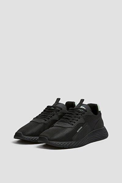 Erkek Siyah Örme Kumaş Spor Ayakkabı 12309740