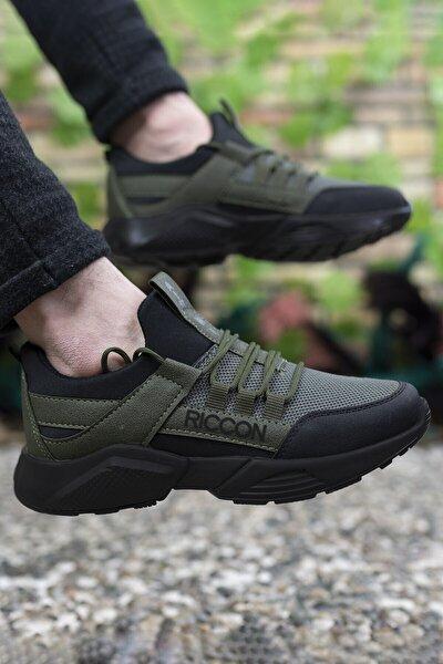 Unisex Haki Siyah Sneaker 0012072