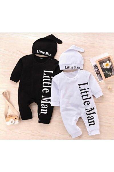 Little Man Desenli Şapkalı Bebek Tulumu