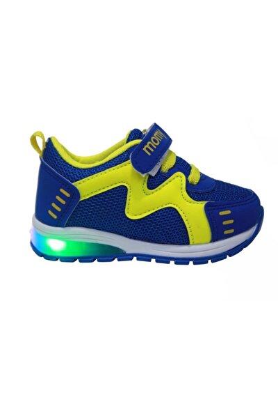 Erkek Bebek Saks Mavisi Işıklı Anatomik Spor Ayakkabı