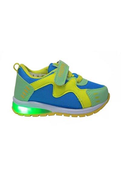 Erkek Bebek Yeşil Işıklı Anatomik Spor Ayakkabı