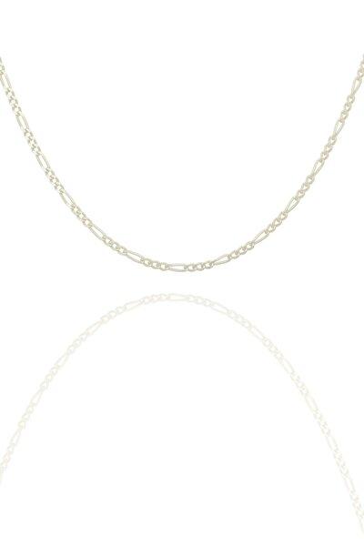 Figaro Model Gümüş Zincir 40 Mm Kalınlık
