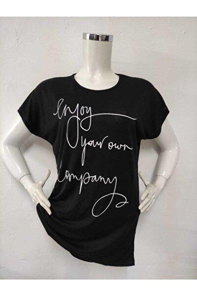 Kadın Viskon Baskılı Penye T-shirt