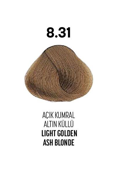 8.31 / Açık Kumral Altın Küllü - Light Golden Ash Blonde - Glamlook Saç Boyası