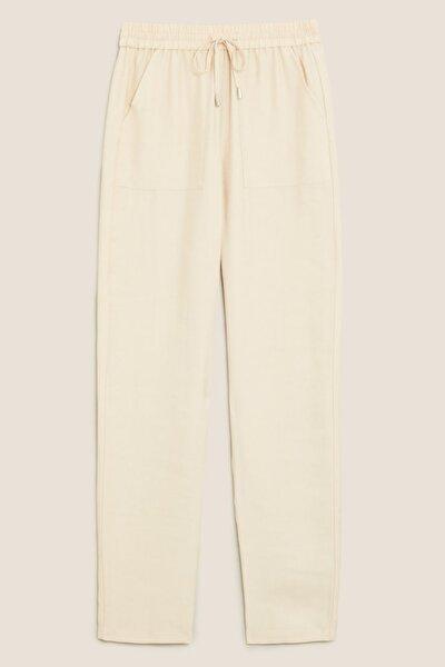 Kadın Vizon Tencel™ Tapered Ankle Grazer Pantolon T57006198