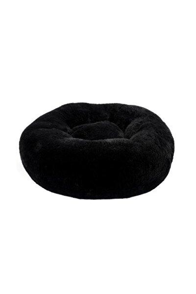 Antrasit Gri Medium Brownie Peluş Kedi Köpek Yuvarlak Yatak
