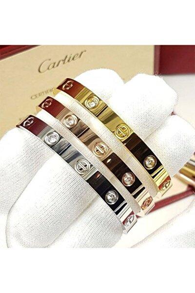 Kadın Gold Cartier Kombin Bileklik