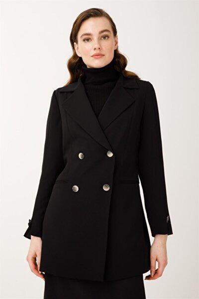 Kuşaklı Ceket Siyah