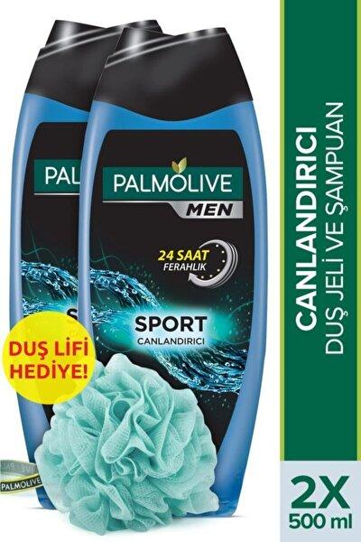 Men Sport 3'ü 1 Arada Yüz,vücut Ve Saç Canlandırıcı Duş Jeli 2 X 500 ml + Duş Lifi Hediye