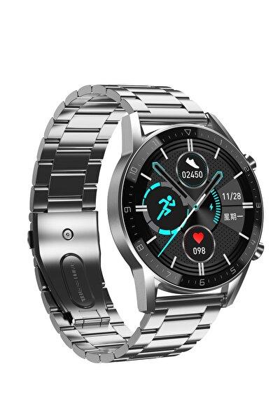 Sx92 Stain Sesli Arama Konusma Oksijen Ölçer Smart Akıllı Saat - Gümüş Çelik