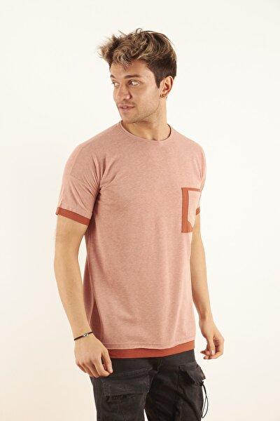 Erkek Kiremit Oversize T-shirt