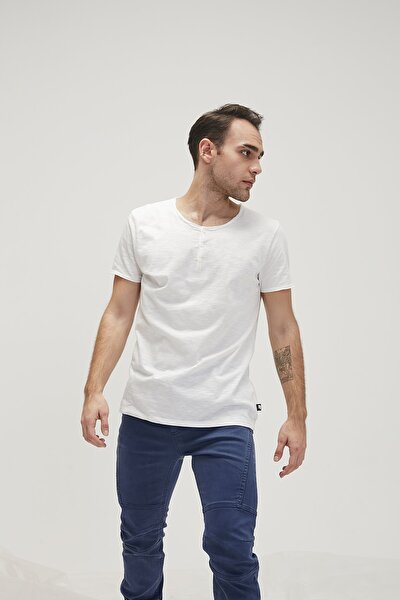 BUTTON TEE OFF-WHITE